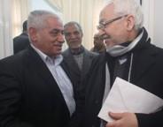 Houcine Abassi (à g.) et Rached Ghannouchi, les leaders des deux plus grandes forces du pays (photo DR)