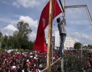 Le 8 mars, des Tunisiennes s'étaient rassemblées à l'occasion de la journée de la femme (photo CFJ/L. DN.-DM.).