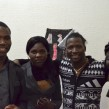 La fratrie Zida (de g. à dr.) : Souleiman, Aminata, Abdoulaye, Zida. (Photo CFJ/ Y.V.)