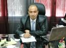 Légende :  Nasreddine Ben Saïda à la rédaction d'Ettounsia. Photo CFJ / L.D.