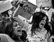Des femmes hurlent leur colère (Photo Wassim Ghozlani)